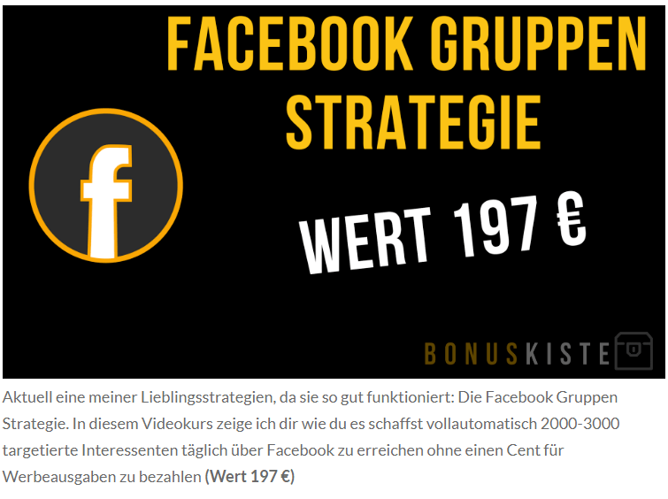 facebook gruppen strategie