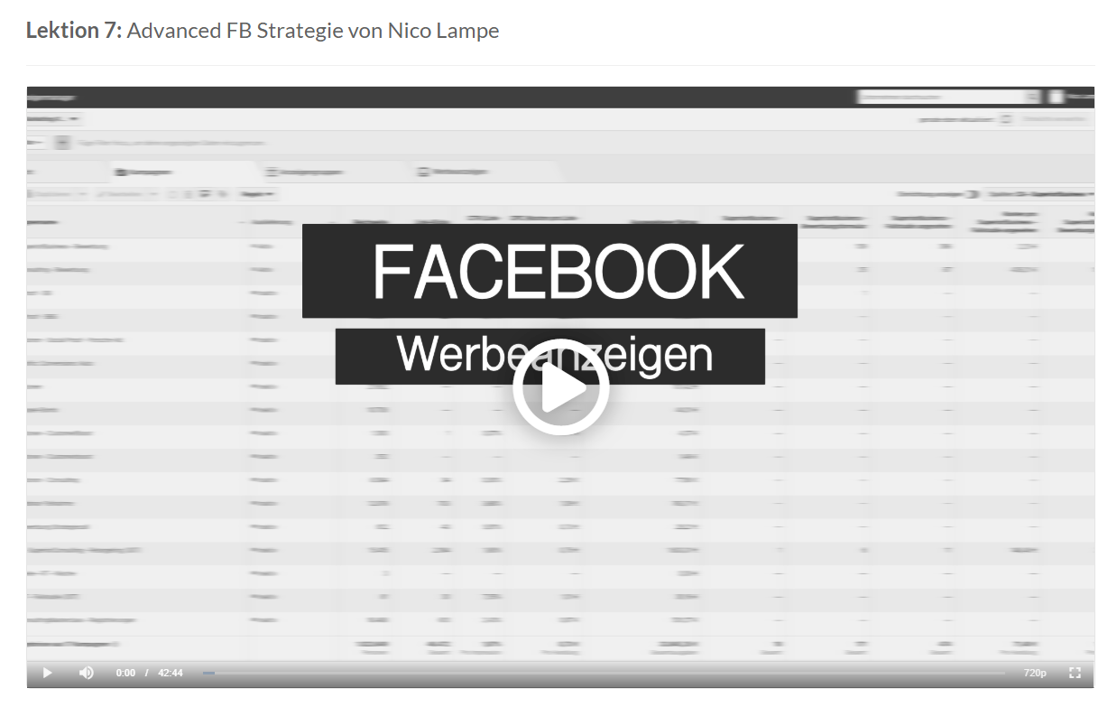 facebook advanced strategie