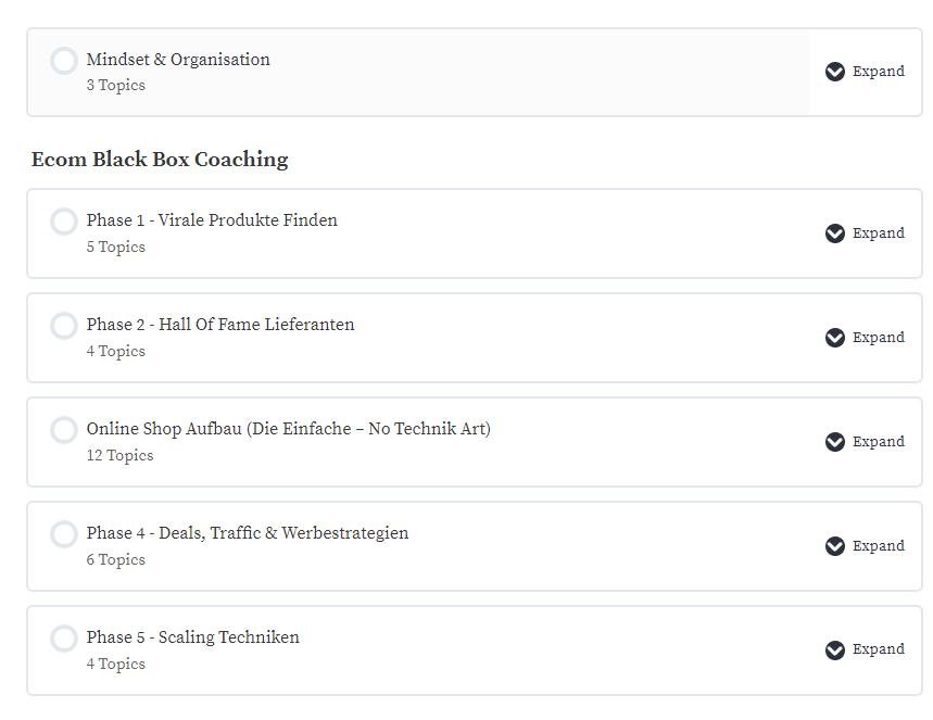 Ecom Black Box Coaching Module