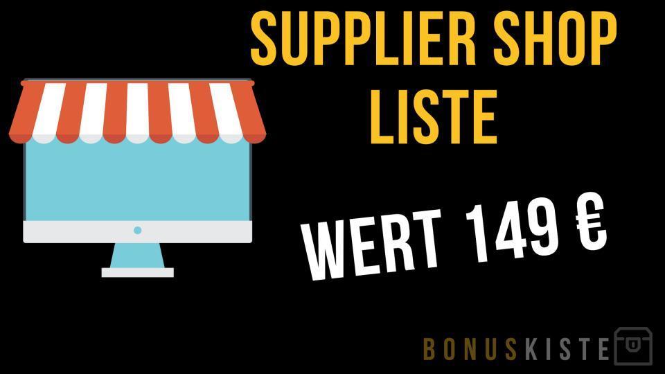 Supplier Shop Liste