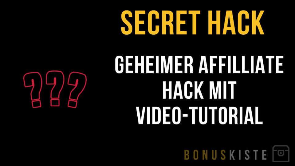 Secret Hack Bonuskiste