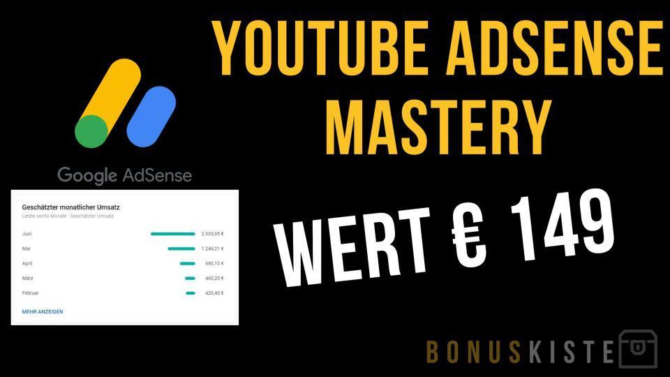 YouTube Adsense Mastery Bonuskiste